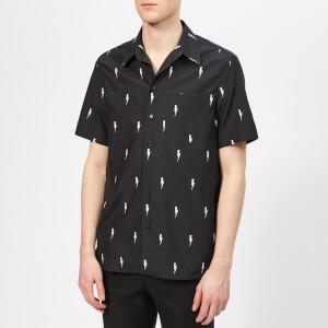 Neil Barrett Men's All Over Thunder Bolt Shirt - Black/White