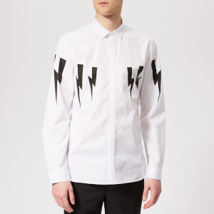 Neil Barrett Men's Winged Bolt Shirt - White/Black