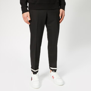 Neil Barrett Men's Tape Turn Up Trousers - Black/Off White