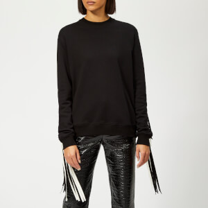 MSGM Women's Fringe Jumper - Black