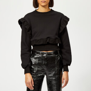 MSGM Women's Frill Sleeve Jumper - Black