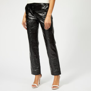 MSGM Women's Patent Croc Trousers - Black