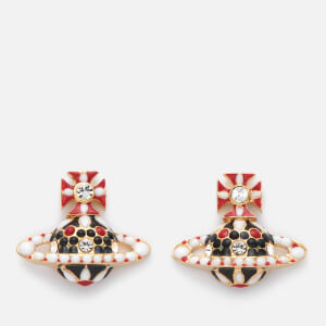 Vivienne Westwood Women's Gabriella Bas Relief Earrings - Crystal/Gold