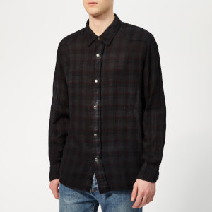 Our Legacy Men's Fine Frontier Shirt - Red/Blue Net Check/Overdyed