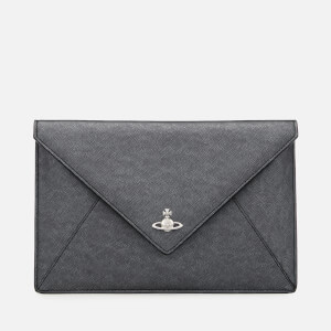 Vivienne Westwood Women's Victoria Envelope Clutch Bag - Anthracite