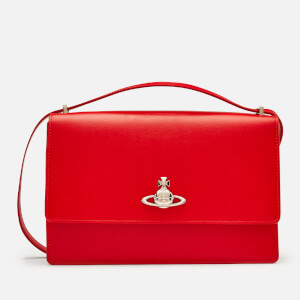 Vivienne Westwood Women's Matilda Large Bag with Flap - Red