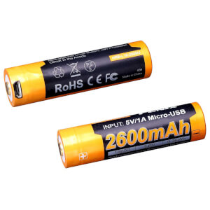 Fenix ARB-L18-2600U-USB 18650 Rechargeable Li-ion Battery - 2600mAh