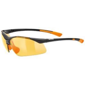 Uvex Sportstyle 223 Glasses - Black/Orange