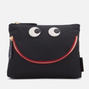 Anya Hindmarch Women's Nylon Happy Eyes Pouch - Black