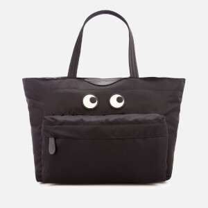 Anya Hindmarch Women's Nylon East West Eyes Tote Bag - Black