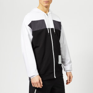 Calvin Klein Performance Men's Full Zip Hoody - Bright White/Gunmetal/CK Black