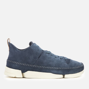 5e341516cc1a3 Clarks Originals Men's Trigenic Flex Suede Trainers - Deep Blue