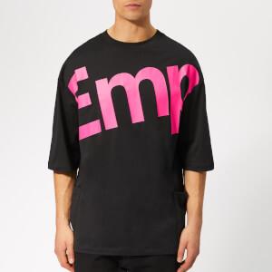 Emporio Armani Men's Large Logo Oversized T-Shirt - Nero