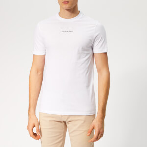Emporio Armani Men's Small Centre Logo T-Shirt - White