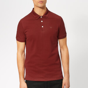 Emporio Armani Men's Basic Regular Fit Polo Shirt - Burgundy