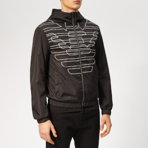 Emporio Armani Men's Large Logo Jacket - Nero/Bianco