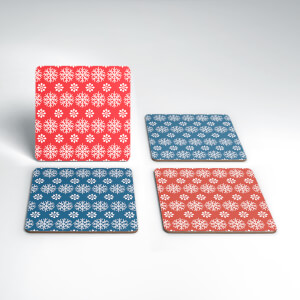 Snowflakes Christmas Coaster Set