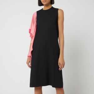 JW Anderson Women's Beaded Drape Shift Dress - Black
