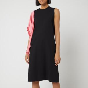 JW Anderson Women's Beaded Drape Shift Dress - Black