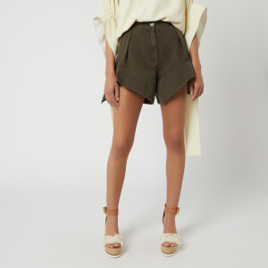 JW Anderson Women's Chino Curved Hem Shorts - Khaki