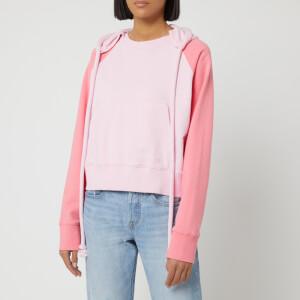 JW Anderson Women's Contrast Sleeve Hoody - Pink