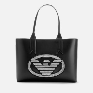 Emporio Armani Women's Shopping Bag - Nero/Argento