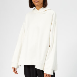 MM6 Maison Margiela Women's Oversized Hooded Sweatshirt - Off White