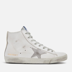 Golden Goose Deluxe Brand Women's Francy Hi-Top Trainers - White Silver