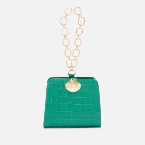 RIXO Women's Amelie Croc Bag - Emerald