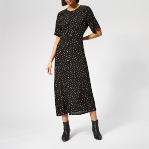 Gestuz Women's Harper Midi Dress - Black/Purple Dot