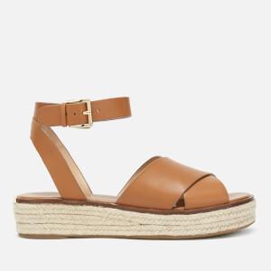 MICHAEL MICHAEL KORS Women's Abbott Flatform Sandals - Acorn