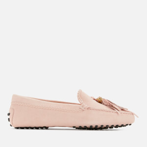 Tod's Women's Gommino Feather Moccasin Shoes - Glove