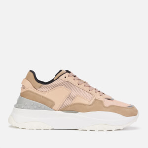 Tod's Women's Chunky Sole Runner Style Trainers - Khaki/Beige