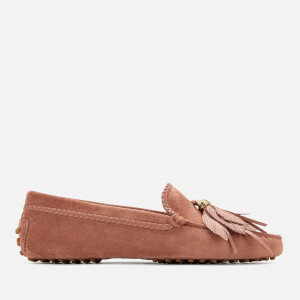 Tod's Women's Gommino Feather Moccasin Shoes - Damasco
