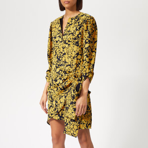 Victoria, Victoria Beckham Women's Side Tie Dress - Midnight/Mustard
