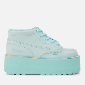 Kickers Women's Kick Hi-Stack Leather Boots - Pastel Blue