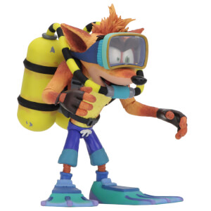 "NECA Crash Bandicoot - 7"" Action Figure - Deluxe Scuba Crash"