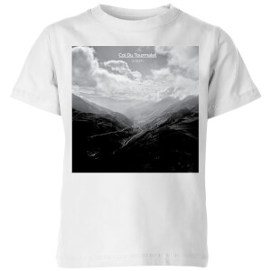 Summit Finish Col du Tourmalet Scenery Kids' T-Shirt - White