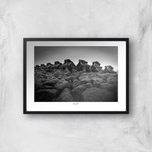 Thunderbolt Photography Wave Breaker, New Brighton Art Print