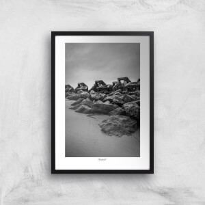Thunderbolt Photography Wave Breaker, New Brighton Art Print