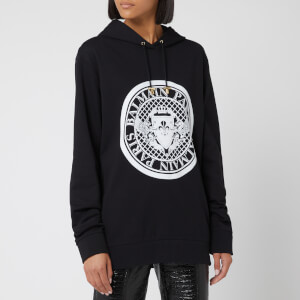 a686e78e Balmain Women's Flocked Coin Hoody - Black