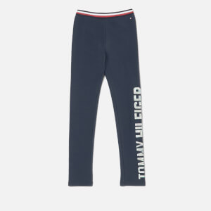 Tommy Hilfiger Girls' Essential Logo Legging - Black Iris