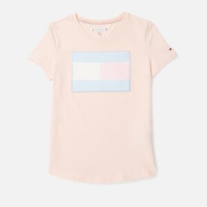 Tommy Hilfiger Girls' Fur Flag T-Shirt - Barely Pink