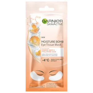 Garnier Skin Active Moisture Bomb Eye Tissue Mask Orange Juice & Hyaluronic Acid
