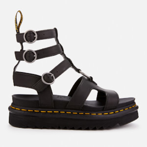 Dr. Martens Women's Adaira Leather Gladiator Sandals - Black