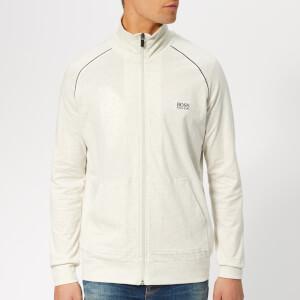 BOSS Men's Zip Jersey Jacket - Grey