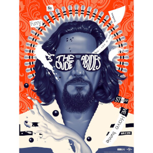 "Big Lebowski ""The Dude Abides"" Screenprint by Doaly - Zavvi Exclusive"