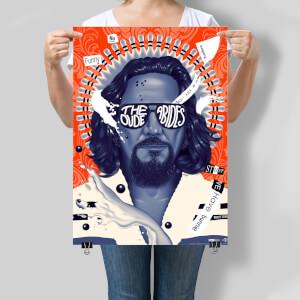 """Serigrafía El Gran Lebowski 20.º Aniversario """"The Dude Abides"""" - Ed.Limitada Exclusiva Zavvi"""
