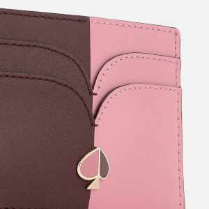 Kate Spade New York Women's Nicola Bi Colour Card Holder - Roasted Fig/Rococo Pink: Image 4