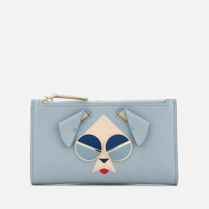 Kate Spade New York Women's Spademals Mod Dog Wallet - Horizon Blue